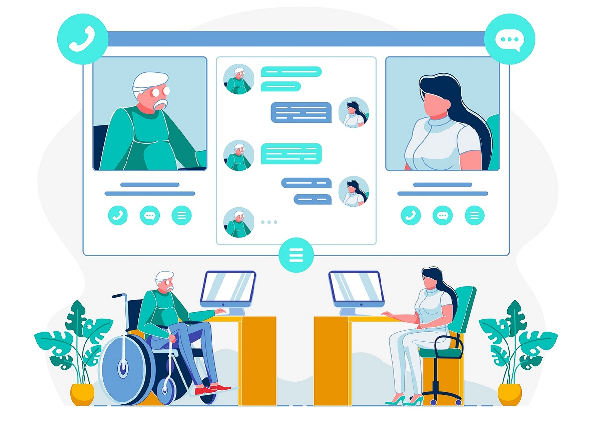 virtual doctor and patient interaction